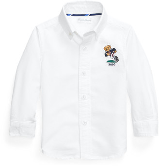 Ralph Lauren Football Bear Cotton Shirt