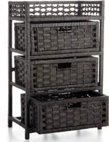 Household Essentials Storage Chest, 3 Drawer Paper Rope