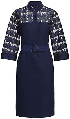 Akris Embroidered Star Shirtdress
