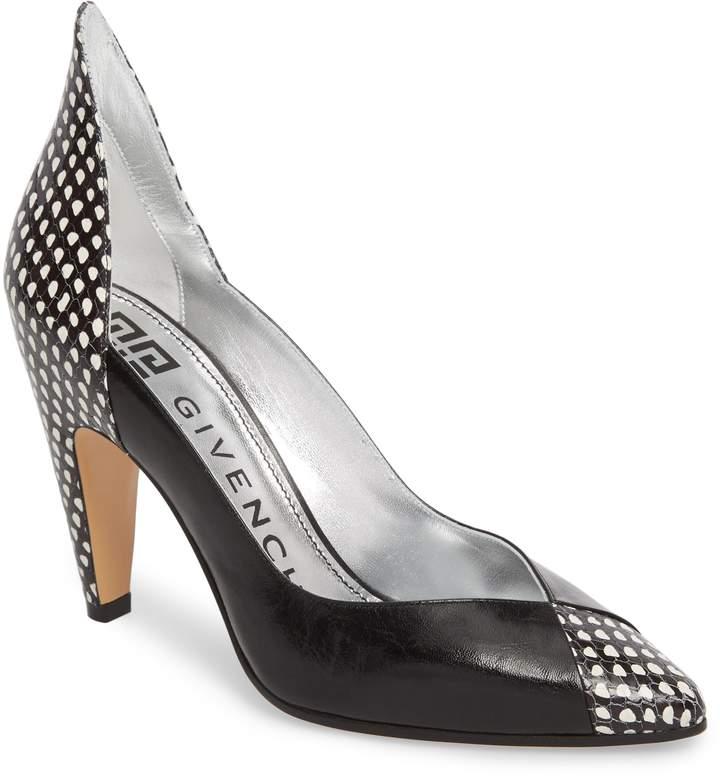 Givenchy Kangaroo Leather Pointy Toe Pump