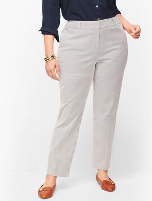 Talbots Plus Size Hampshire Ankle Pants - Curvy Fit - Teatime Stripe