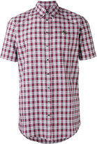 DSQUARED2 short sleeved tartan shirt - men - Cotton - 50