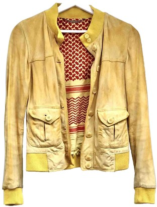 Le Sentier Yellow Suede Jacket for Women