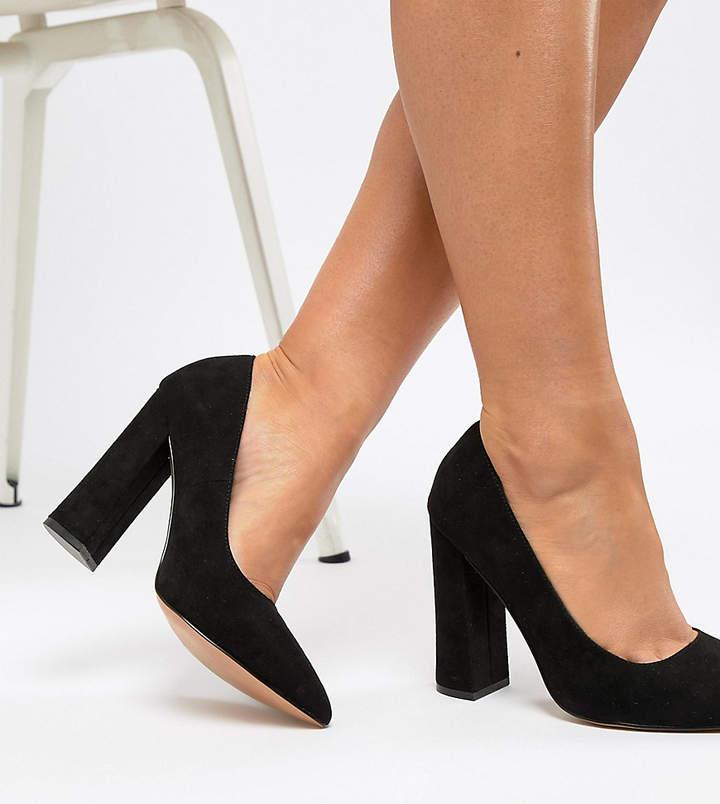 6abd341f2d9 Design DESIGN Wide Fit Palmer pointed high heeled pumps in black