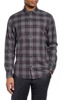 Calibrate Slim Fit Plaid Button-Up Shirt
