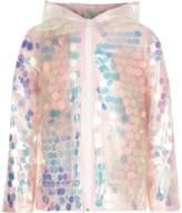 River Island Girls pink iridescent sequin raincoat