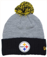 New Era Pittsburgh Steelers Heather Stated Knit Hat