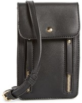 BP Zipper Phone Crossbody Bag - Black