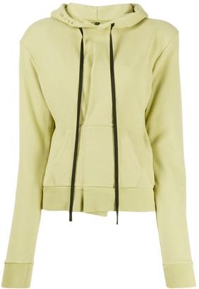 Unravel Project slim-fit pintuck hoodie