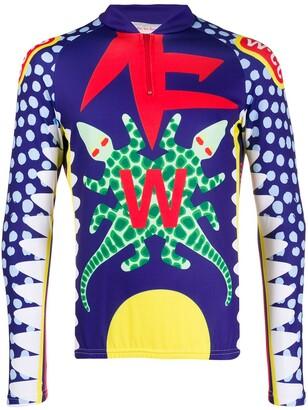 Walter Van Beirendonck Pre Owned 2014/15's Crossed Crocodiles Growl cycling T-shirt
