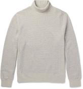 Steven Alan - Mélange Fleece-back Cotton-jersey Rollneck Sweatshirt