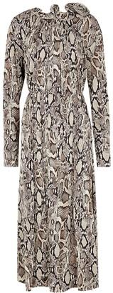 Magda Butrym Snake-print Stretch-jersey Midi Dress
