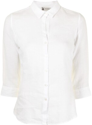 Colombo Linen Shirt With Cropped Sleeves