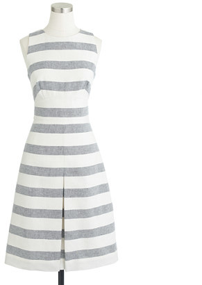 J.Crew Stripe basket-weave dress