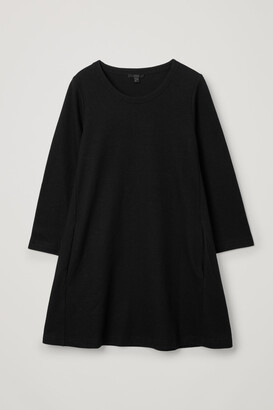 Cos Merino Wool-Organic Cotton Mix A-Line Dress