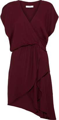 IRO Tralor Wrap-effect Cutout Crepe Mini Dress
