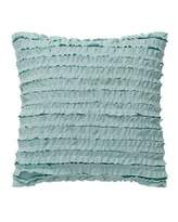 "Dena Home Luna Ruffle-Front Pillow, 14""Sq."
