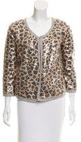 Calypso Embellished Open-Front Jacket