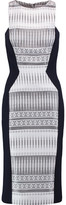 Amanda Wakeley Stretch Knit-Paneled Jacquard Dress