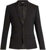 Dolce & Gabbana Single-breasted wool-blend blazer