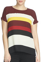 Chaus Short Sleeve Marquee Stripe Blouse