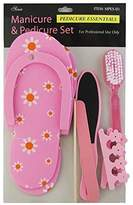 Ongles d'Or Pink Manicure and Pedicure Set MPES-01