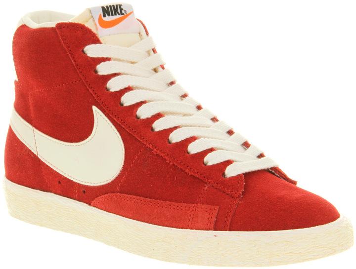 Nike Blazer Hi Suede Vintage Varsredsail - Unisex Sports