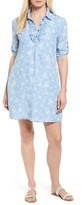KUT from the Kloth Celia Ruffle Print Denim Shirtdress (Regular & Petite)