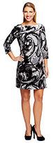 Isaac Mizrahi Live! Marble Print Knit Velvet Dress