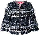Coohem graffiti tweed jacket - women - Silk/Cotton/Linen/Flax/Rayon - 40
