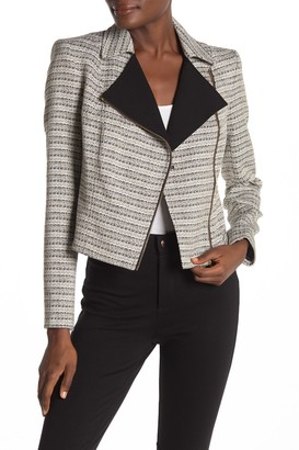 Calvin Klein Novelty Tweed Moto Jacket