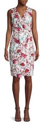 Black Halo Floral-Print Sleeveless Sheath Dress