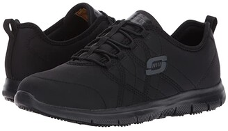 Skechers Ghenter - Srelt (Black Jersey Mesh/Trim) Women's Lace up casual Shoes