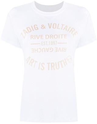 Zadig & Voltaire Zoe logo-print cotton T-shirt