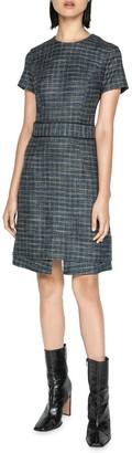 Cue Melange Tweed A-line Dress