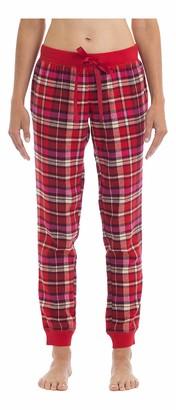 Joe Boxer Women's Sunday Morning Plaid Flannel Pant Sleepwear
