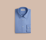 Burberry Slim Fit Stretch Cotton Shirt , Size: 14.5, Blue