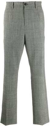 Versace checkered tailored trousers