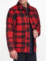 Filson Mackinaw Wool Cruiser Jacket, Red