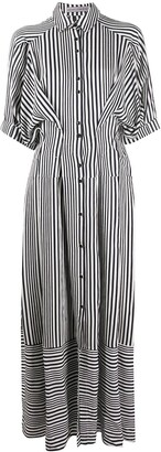 Palmer Harding Panelled Stripe Shirt Dress