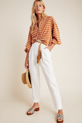 WAYF Romy Tapered Pants By in White Size XS