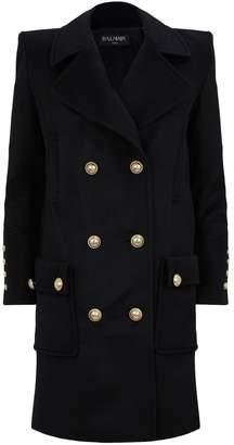 Balmain Wool-Cashmere Coat