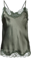 Gold Hawk lace trim cami top