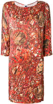 M Missoni printed cropped sleeve mini dress