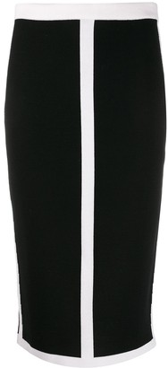 Escada Colour Block Pencil Skirt