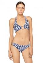 Milly Cabana Sailboat Print Santorini Halter Bikini Top