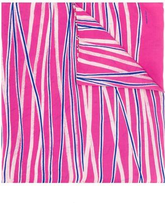 Giorgio Armani Pre Owned 1980's Crossed Stripes Scarf