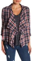 Susina Drape Front Plaid Shirt (Petite)