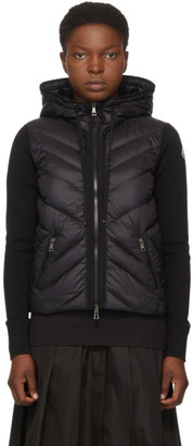 Moncler Black Down Hooded Jacket