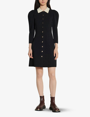Sandro Milane cotton-blend mini dress